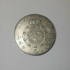 Sweden Silver Riksdaler 1776 OL Gustav III - Large Cross