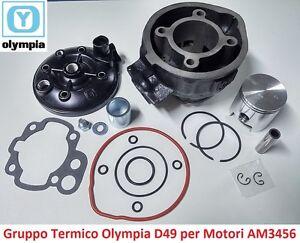 Gruppo Termico Cilindro + Pistone + Testa Olympia D49 per Yamaha DT 50 SM - AM6