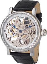 Mechanische Skelettuhr Ø 42mm aus Edelstahl mit Glasboden Skelett Armbanduhr Uhr