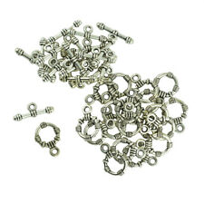 20 Sets Tibetan Silver Toggle Clasps Jewelry Making Findings DIY Crafts