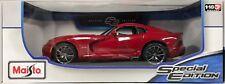 Maisto 2013 SRT Viper GTS  Die Cast Metal Model Car 1:18 Scale Diecast