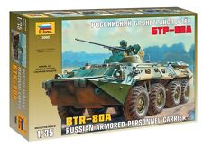 ZVEZDA 3560 BTR-80A RUSSIAN ARMORED PERSONNEL CARRIER SCALE MODEL KIT 1/35 NEW