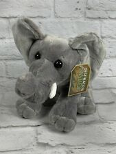 "Destination Nation Elephant Plush Stuffed Animal by Aurora 12"" Silky Ears"