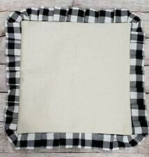 Buffalo Plaid 18x18 faux linen polyeste Sublimation Blank Pillowcase Black White