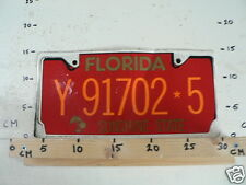 STICKER,DECAL NUMBERPLATE FLORIDA Y91702-5 SUNSHINE STATE IS DAMAGED LARGE CAR