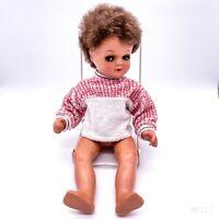 Vintage Wernicke Germany Puppe mit Schlafaugen, Schelmenaugen 60er Jahre 131/40