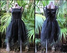 Fairy Dress Party Costume with Wings – WOMEN'S ONE SIZE - Black Witch
