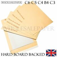 DO NOT BEND ENVELOPES A3 A4 A5 A6 C5 HARD CARD BOARD BACKED SMALL LARGE MANILLA