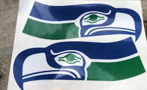 SEATTLE SEAHAWKS Helmet Decals 1 Pair THROWBACK NFL Retro Look/Design