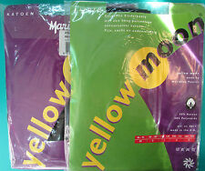 LOT 2 PAIRES DE COLLANTS FILLE 98-104cm fin opaque noir coton YELLOW MOON NEUF