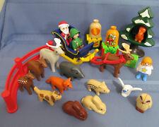 Playmobil 1.2.3 Playset 5497 Santa Claus with Reindeer Sleigh Elf Animals