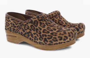 Dansko Professional Clog Leopard Suede Women's US/EU sizes 35-43/5-13 NEW!!!