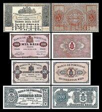 2x  200, 500, 1.000, 5.000 Reis - Ausgabe 1890 - 1891 - Reproduktion - 24