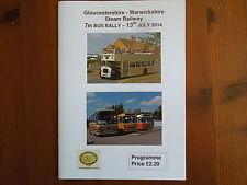GLOUCESTERSHIRE WARWICKSHIRE RAILWAY 7TH BUS RALLY PROGRAMME 2014