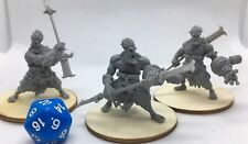 3 Large Ogre Oni Monster Miniatures for Dungeons and Dragons 5e New Unassembled