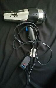Conair 1875 Silver/Black/Chrome 125V Hair Dryer, 070RACHNW