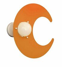 Applique Luna Arancio in Metallo per Camerette Bambini 100% Made in Italy