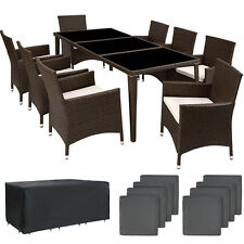 Set di mobili da giardino 8+1 alluminio poli rattan arredamento sedie tavalo  nu