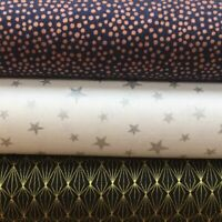 Lewis and Irene 'Marvellous Metallics' Collection 100% Cotton Fat Quarter, Ha...