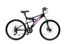 "Base 1 FULL Doppia Sospensione Mountain Bike MTB 26"" RUOTE FRENI A DISCO 21Sp Rosa"