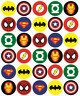 30 Mixed Superhero Cupcake Toppers Rice Card Cake Fairy Birthdays Pre Cut