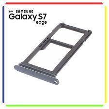 CARRELLO SUPPORTO SIM CARD PER SAMSUNG GALAXY S7 EDGE NERO BLACK