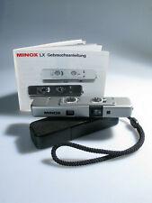 Minox TLX Made in Germany 1:3,5/15 mm Miniaturkamera + Anleitung + Tasche