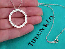 Tiffany & Co 1837 Large Circle Sterling Silver Pendant Necklace