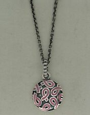 "Authentic Pandora 390326EN24-80 31.5"" Breast Cancer Pink Ribbon Pendant & Chain"