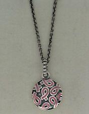 "Authentic Pandora 390326EN24-80 31.5"" Breast Cancer Pink Ribbon Pendant & Chain"