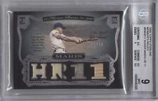 2006 Topps Sterling ROGER MARIS Moments Relics Jersey Bat /10 *Yankees* BGS 9