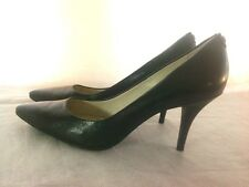 Classy Michael Kors Mid Flex Black Leather Pumps Heels Women's size 9.5 M