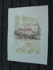 Heidelberg Prägedruck Limitiert Bild Kunstdruck Gesamtbild: B 39,5 cm X H 53 cm