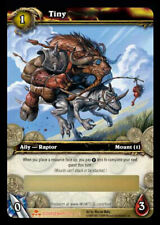 WOW World of Warcraft TCG Unscratched Loot Card  Tiny -  Bridle / Raptor Mount