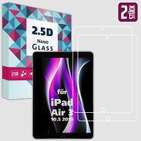 """2x Panzerfolie für iPad Air 3 10.5"""" 2019 Displayschutz Folie Schutz Panzer Glas"""
