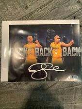 Dereck Fisher Back to Back Signed 8x10 Beckett Authenticated
