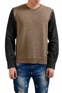 Dsquared2 Men's Wool Multi-Color Crewneck Sweater Size L XL 2XL 3XL