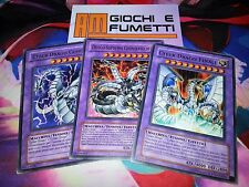 LOTTO 3 CARTE FUSIONE CYBER DRAGO in italiano TUTTE ORIGINALI YUGIOH!