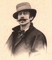 Portrait Ferdinand Emmanuel Pelez de Cordoba d'Aguilar Peintre Peinture