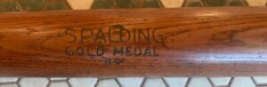 VINTAGE SPALDING GOLD MEDAL N3 MODEL BAT (1912-1918) RARE *AMAZING CONDITION!*