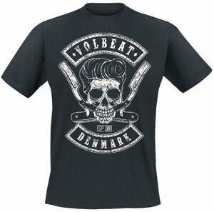 Volbeat Denmark Skull Männer T-Shirt schwarz   Band-Merch, Bands, Totenköpfe