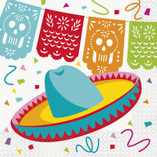 16 x Mexican Fiesta Party Napkins Mexican Party Supplies Fiesta Party Tableware