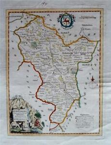 DERBYSHIRE - Fine Original Hand-Coloured Antique Map by Thomas Kitchin c1780