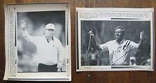 2 AP Laser Photos (Golf) Jack Nicklaus Wins 1991 Senior Open