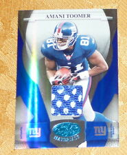 AMANI TOOMER Giants 2008 Leaf Certified Blue Jersey #5/50 Card #93