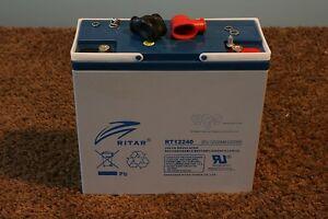Ritar RT12240EV 12v 24ah - EV battery - Ideal cell for GOLF carts caddies trolly