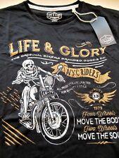 T Shirt Batik black Vintage HD Biker Chopper/&OldSchoolmotiv Modell Eagles Pan