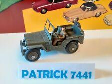 DINKY TOYS Conducteur pilote de l armée pour Jeep willys 80B et 808
