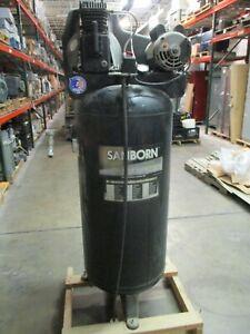 Sanborn Air Compressor SL3706056 1-Stage 3.7HP 60-Gallon 135PSI 230V 1Ph Used