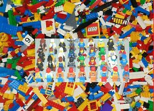 GENUINE LEGO 500g Parts & Pieces Mixed Bricks with 2 x Minifigures 1/2kg